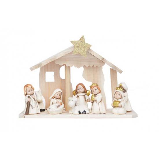 Zeer Kerststal met figuren van keramiek 26 cm voor kerst bestellen  &VH95